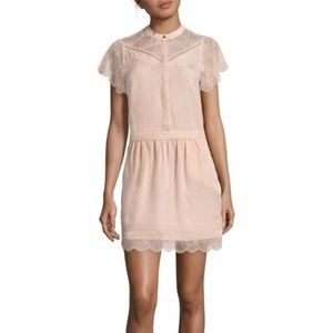 Zadig & Voltaire Ricy Jac Blush Pink Lacy Dress S